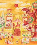 Natalia Goncharova. Set for the ballet Le Coq d'Or, 1914. Private collection