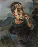 Oskar Kokoschka,<em> Self-Portrait, One Hand Touching the Face</em>, 1918/19 © Leopold Museum, Vienna