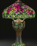 Tiffany Studios.<em>Peony Table Lamp</em>, ca. 1901-1910. Probably by Clara Wolcott Driscoll.  Leaded glass, bronze. The Cleveland Museum of Art, Bequest of Charles Maurer