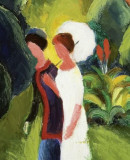 August Macke, <Ladies in the Park (with white umbrella)</em>, 1913 © Stiftung Renate und Friedrich Johenning Photo: Linda Inconi-Jansen