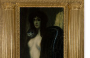 <em>The Sin</em>. Oil on canvas by Franz von Stuck, ca. 1909
