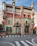 Façade of Casa Vicens. Designed by Antoni Gaudí and built between 1883 and 1885 in Carrer Carolines, 20 Barcelona © IMPUiQV